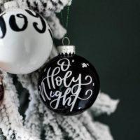 DIY Handlettered Ornaments