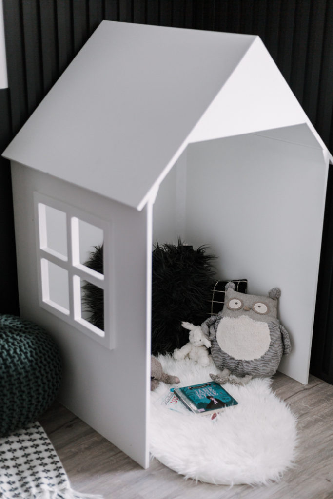 Cute kids playhouse in the bedroom