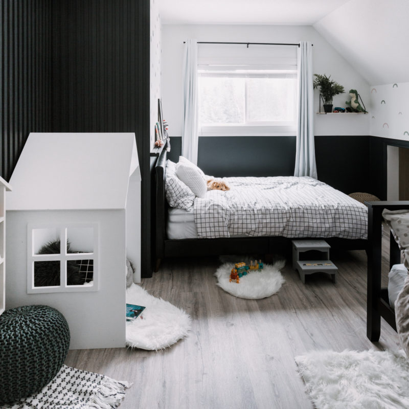 modern monochrome bedroom
