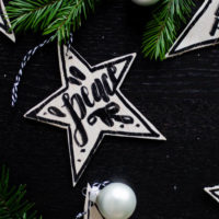 Wooden Star Ornaments