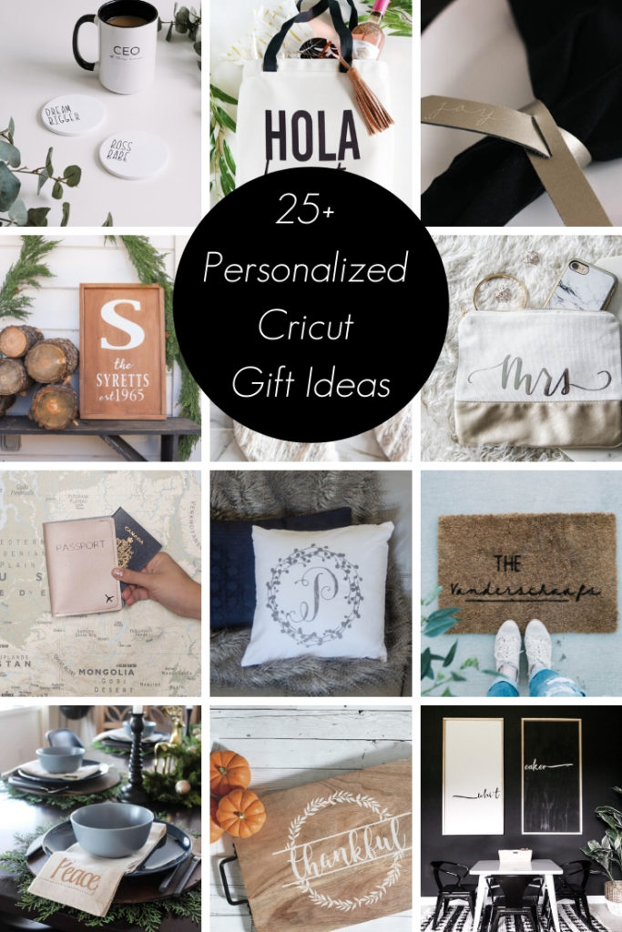 Collage of 25+ Personalized Cricut Gift Ideas