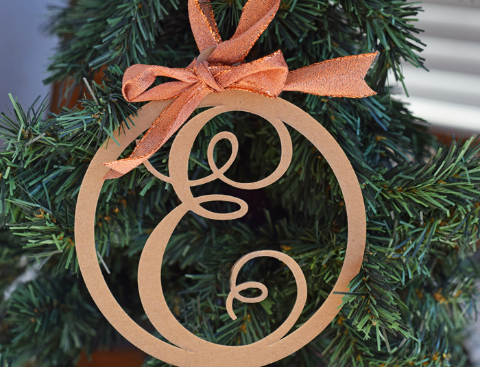 Letter Christmas Ornament