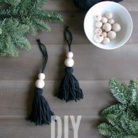 DIY boho christmas ornaments