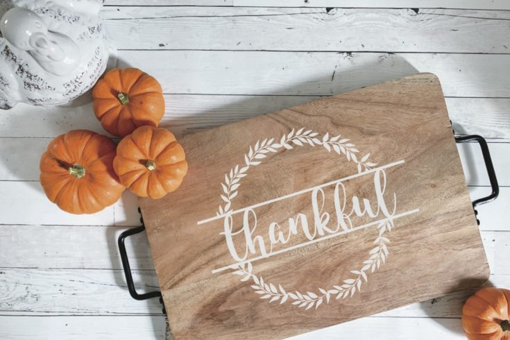 DIY Thanksgiving Tray