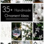 Beautiful handmade ornament ideas in a collage
