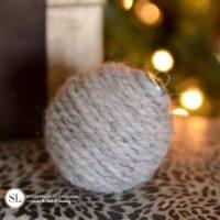 Yarn Wrapped Ornaments
