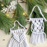 Mini Macrame Christmas Ornaments