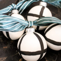 DIY Black and White Ornaments