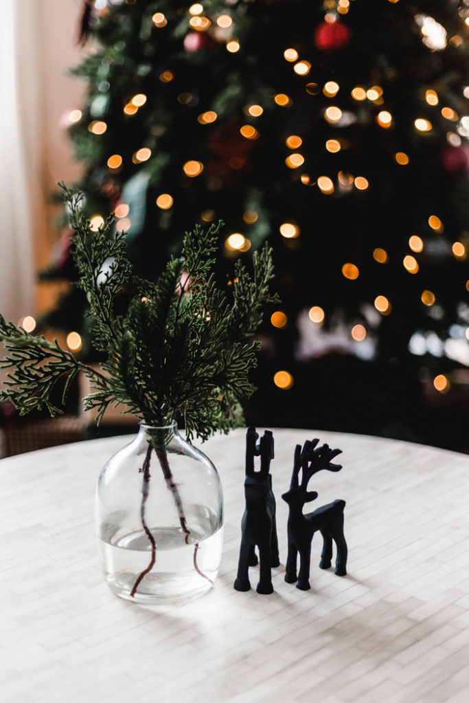 Coffee table decor for Christmas