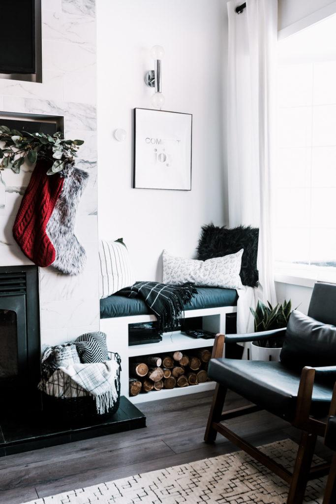 Bench Decor for Christmas