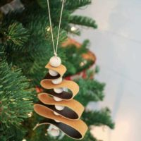 DIY Leather Tree Ornaments