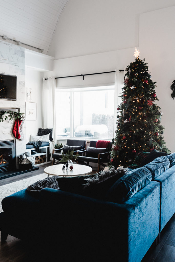 modern Christmas tree in the living room