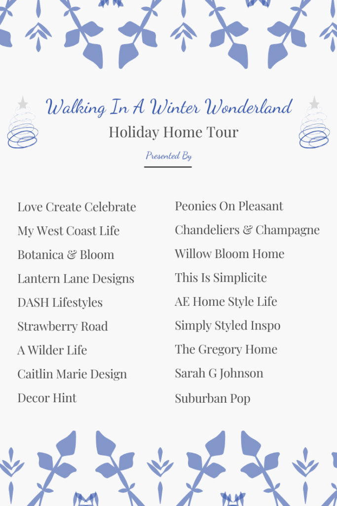 List of participants in the winter wonderland home tour