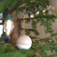 Wooden Ball Christmas Ornaments