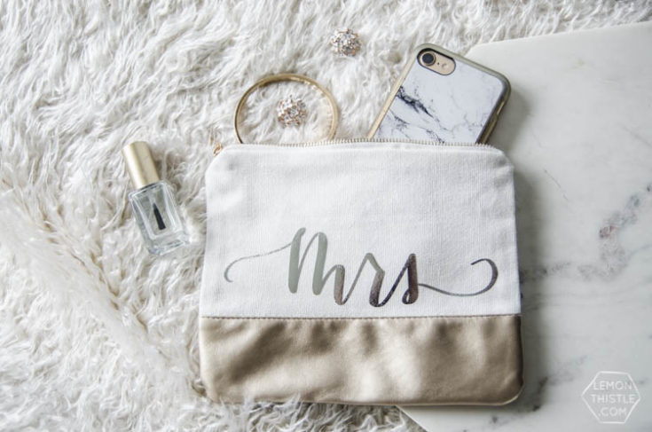 DIY Handlettered Foiled Pouches