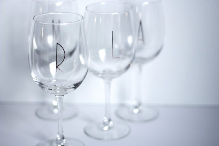 DIY Monogrammed Wine Glass