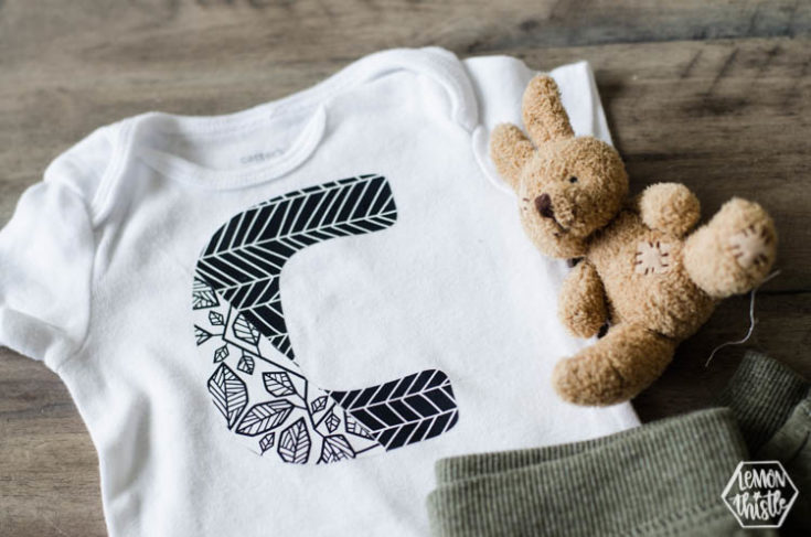 DIY Patterned Letter T-Shirts