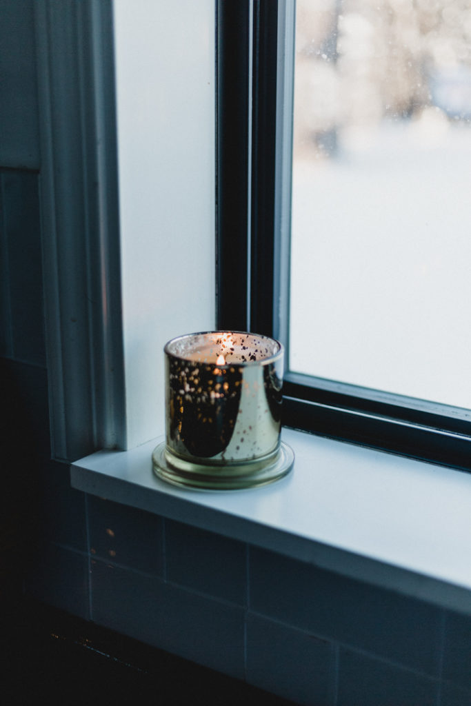 simple candle in the window