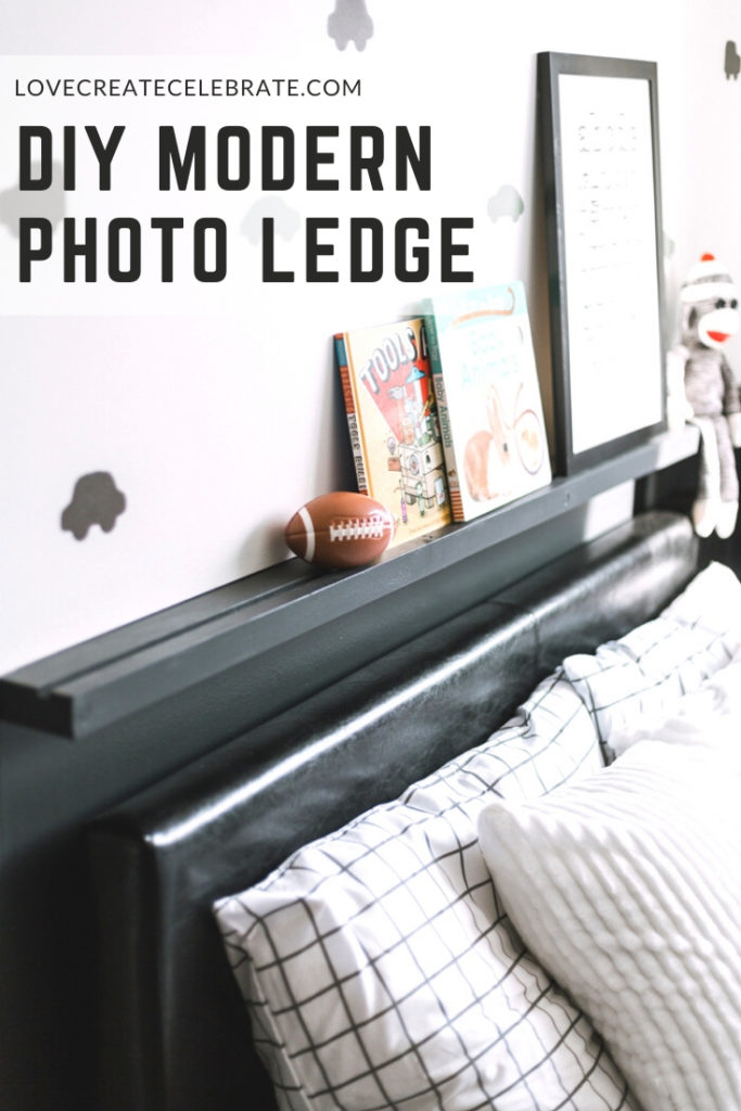 DIY photo ledge for a kids room
