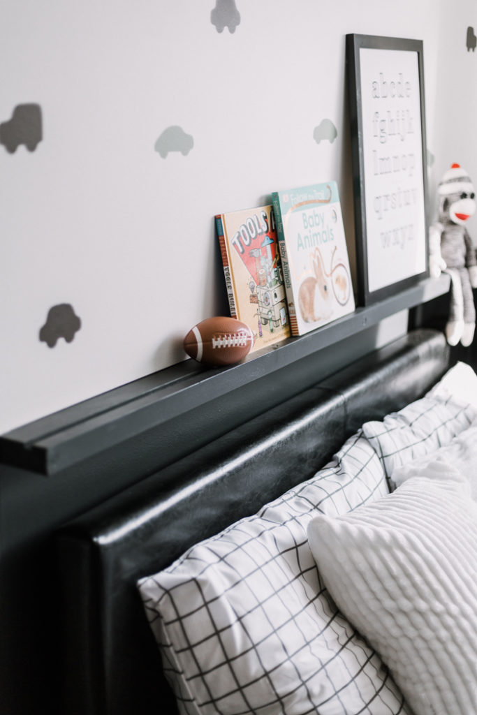 Modern shelving for a kids bedroom