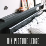 Modern DIY picture ledge
