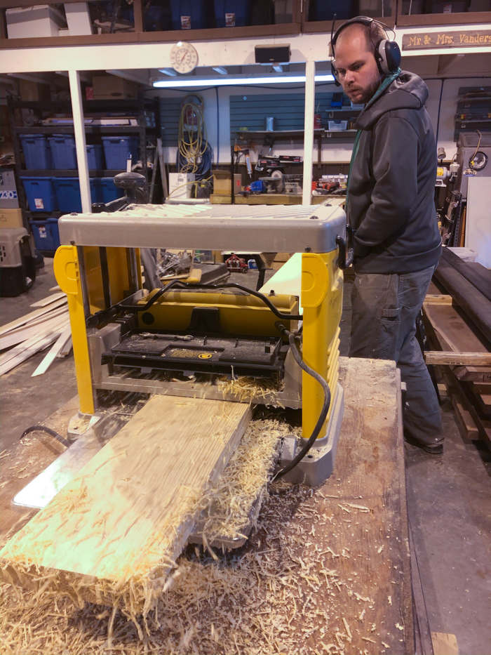 using wood planer