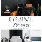 DIY Wood Slat Wall