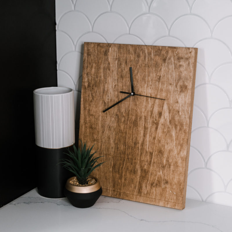 DIY wood clock for man cave