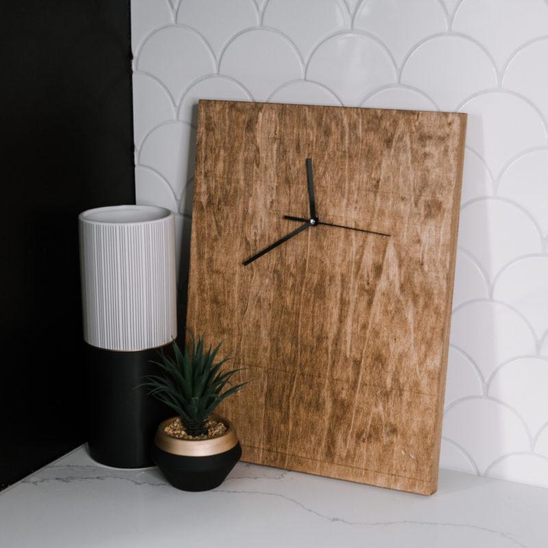 DIY wood clock for man cave