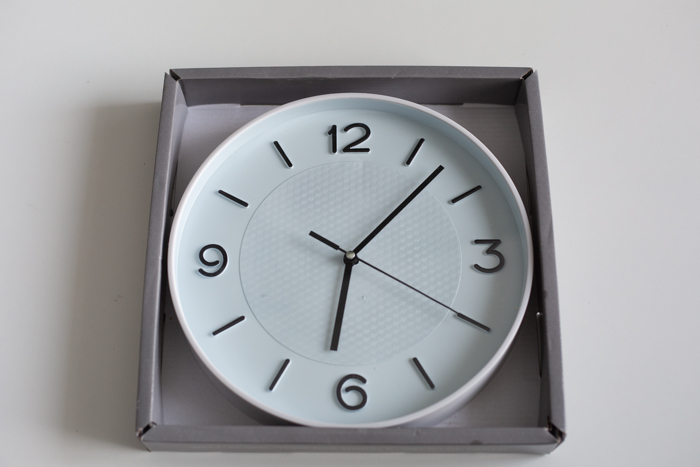 a dollar store clock DIY