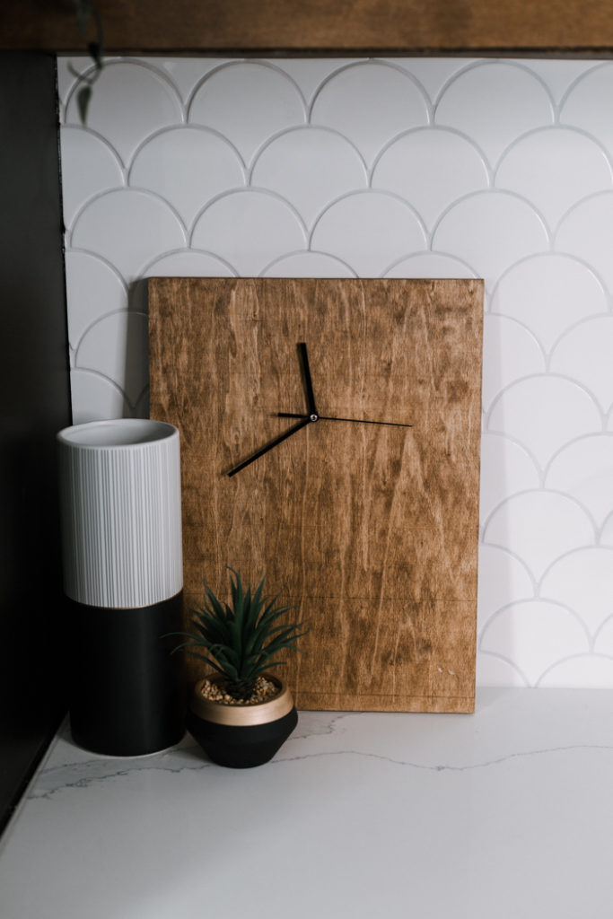 modern wood clock design