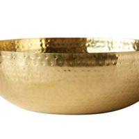 Hammered Gold Metal Bowl