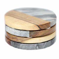 Luxury Marble and Wood Coasters