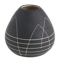 Black Round Bud Vase