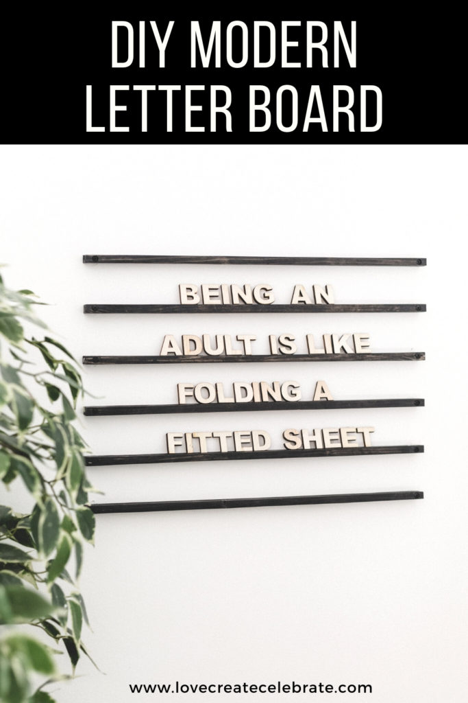 wooden letter board idea
