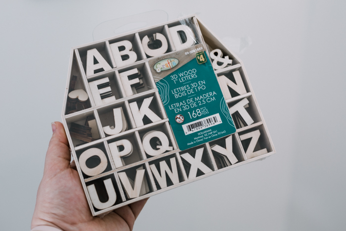 dollar store letters for letter boards