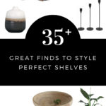 beautiful home decor pieces to style your shelves