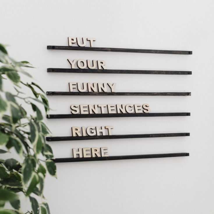 Wall-Mounted Wooden Letter Board