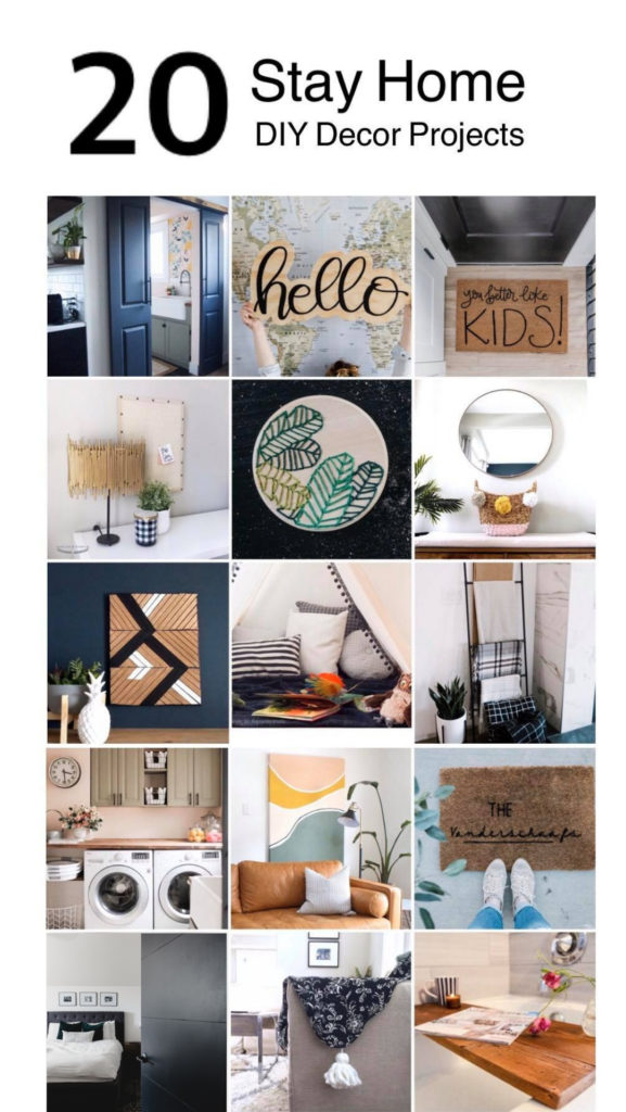 Collage of modern home decor projects