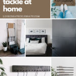 Collage of modern home decor ideas with text reading, 20 easy projects to tackle at home