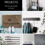 "Collage of DIY Home Decor Projects with text reading ""20 modern DIY projects"""