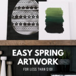 How to make simple spring artwork