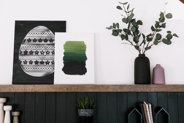 simple spring canvas art ideas