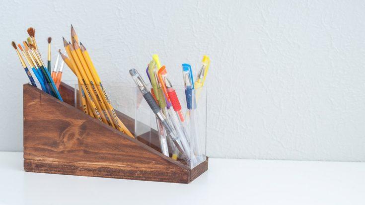 Easy DIY Modern Pencil Holder