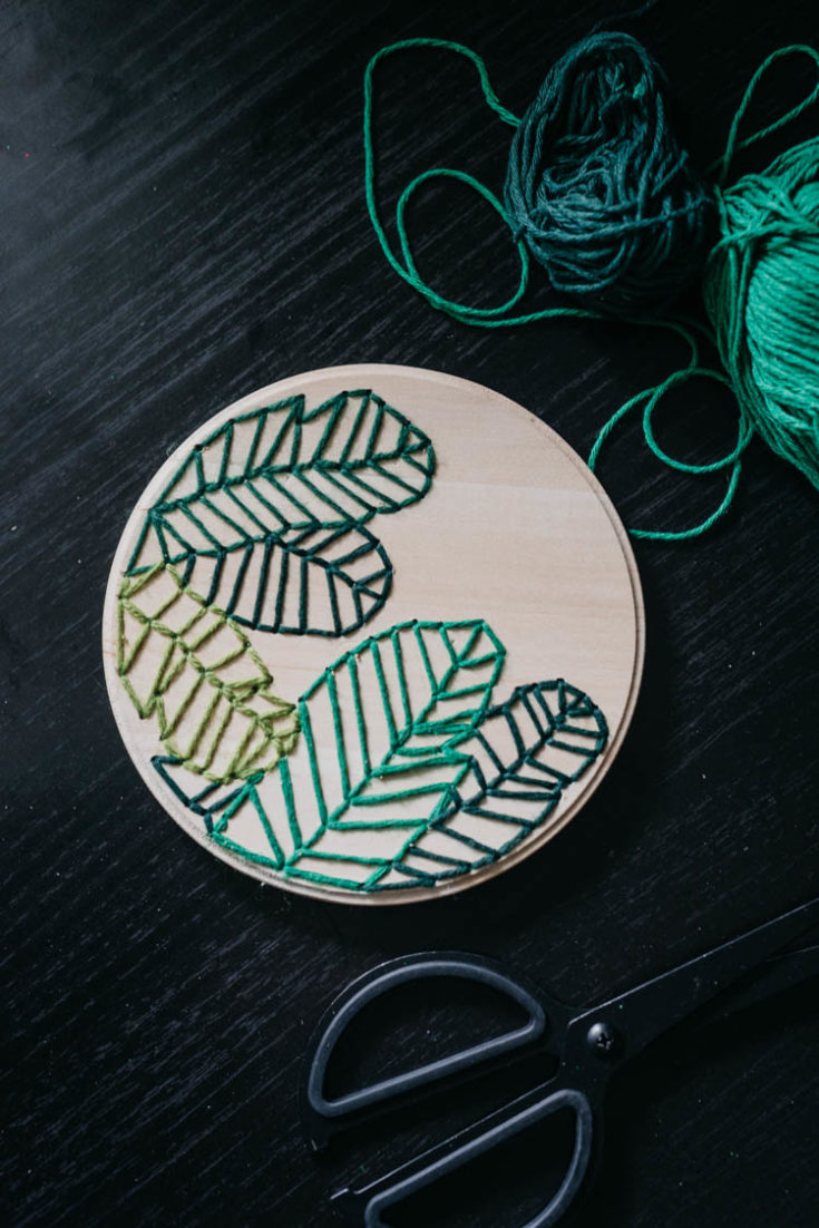 Embroider On Wood