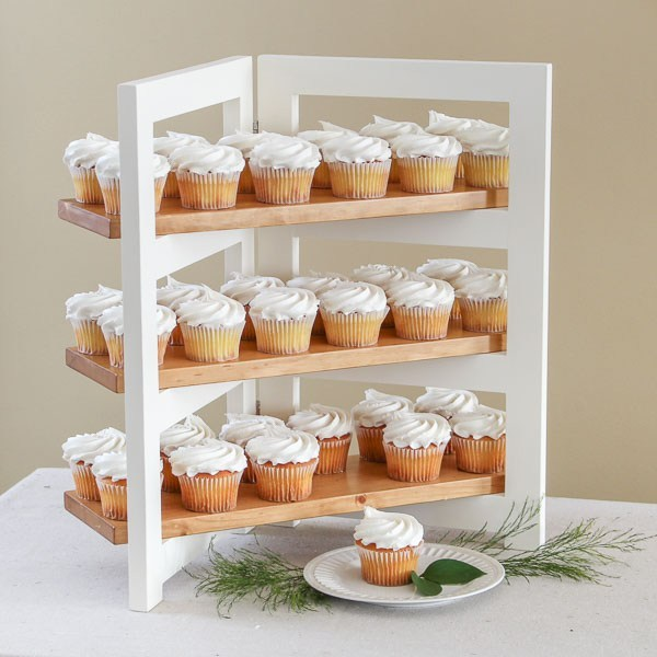 Folding DIY Cupcake Stand