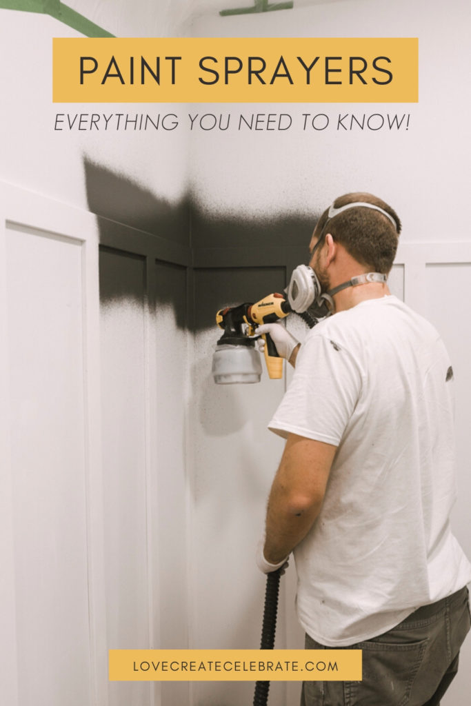 Using the wagner paint sprayer with text reading Paint sprayer - everything you need to know
