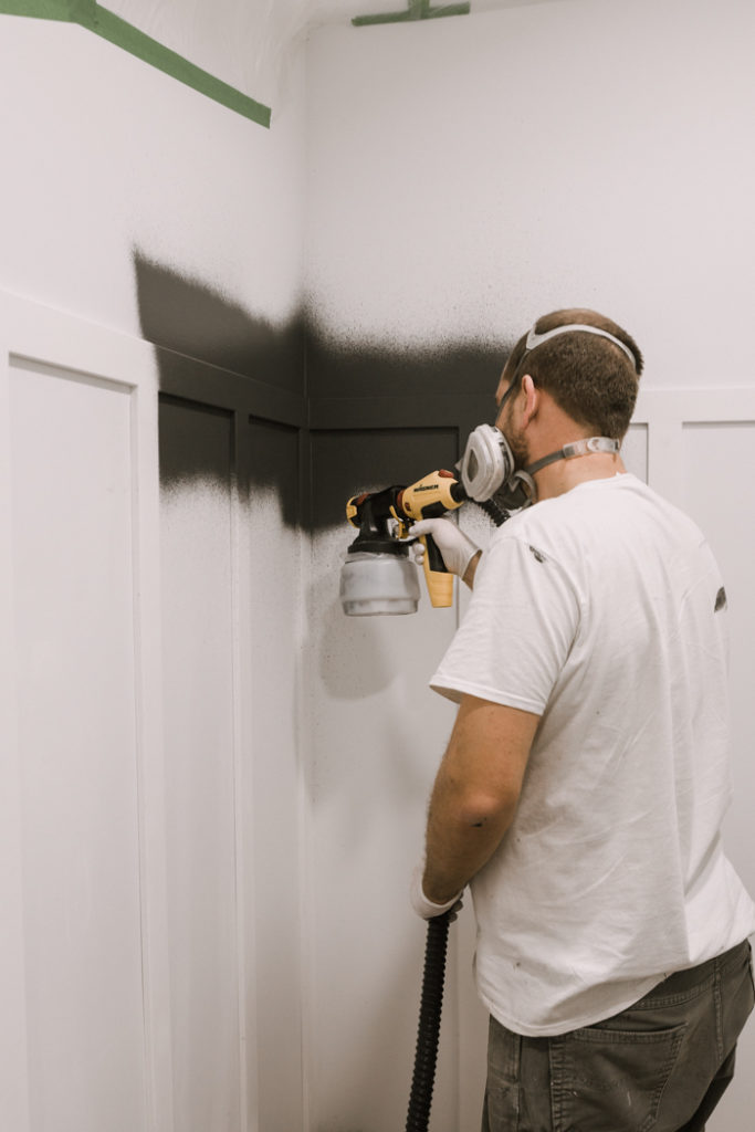testing out the wagner flexio paint sprayer