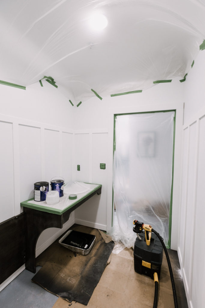 how to seal off a room for a paint sprayer