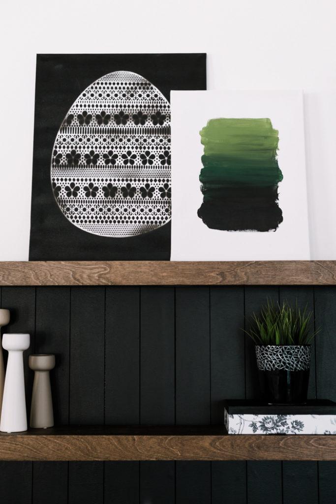 easy Easter or Spring art inspiration